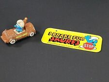 I Brake for Smurfs mini license plate Wallace Berrie & Co 1983 Smurf-About Car