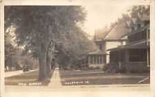 Holstein Iowa~Brick Home w/3 Dormers~1 w/Enclosed Porch 1920s Vintage Car RPPC
