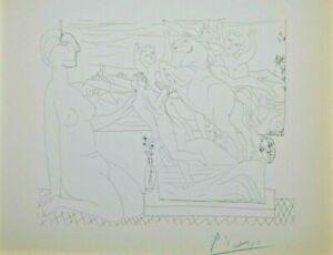 Pablo Picasso Marie-Therese betrachtet Skulpturen Suite Vollard handsigniert
