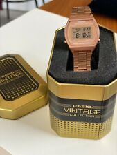 Casio Water Resistant Rose Gold Retro Style Vintage Digital Watch