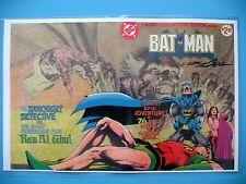 BATMAN SIGNED PRINT NEAL ADAMS Poster 17 x 11 RA'S AL GHUL RARE NEW Neil Niel
