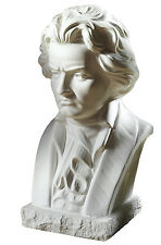 Figur aus Alabastergips 19 cm DDR Retro Büste Lenin im Stil Sowjetunion weiß