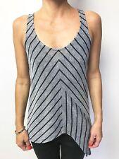 SASS & BIDE lyda vega black silver stripe sleeveless knit tank hilo sz xs