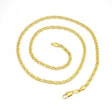 "24k Yellow Gold Filled Necklace Men/Women 20""Chain Link Charms GF Unique Jewelry"
