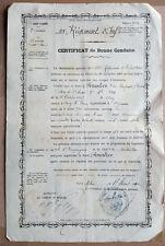 CERTIFICAT DE BONNE CONDUITE Militaire 113 RÉGIMENT D'INFANTERIE 1890
