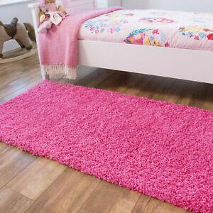Cosy Fluffy Childrens Bedroom Rug Dense 3cm Soft Girls Nursery Rugs Pink Rug Mat