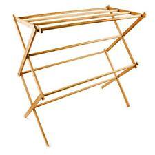 Relaxdays 10017158 - Toallero de Bambú plegable color natural