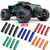 4PC RC Car Shock Absorber Damper Cover for 1/10 Traxxas 89076-4 X-Maxx 4WD Truck