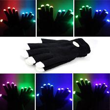 LED Handschuhe Leuchten Finger Beleuchtung Mitt Tanzen Party Licht Blink 7 Modus