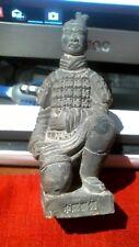 Vtg Chinese Clay Soldier Terracotta Warrior Kneeling Knight Statue Figurine