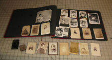1951 PHOTO ALBUM with 2 TinTypes, 10+ Cabinet Photos and Other Family Pictures