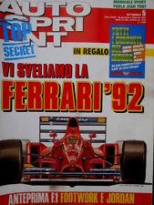 Autosprint 5 1992 Inserto 'Tutti i circuiti del mondo'. La Ferrari 92 [Q104]