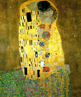 Dream-art Oil painting Gustav Klimt - The Kiss Young lovers portraits canvas 36""