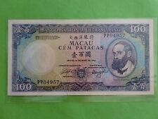 Macau (Macao) BNU 1984 100 Patacas (aUNC), Free Pos Laju
