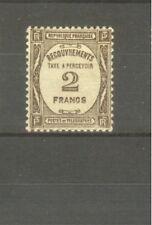 "FRANCE STAMP TIMBRE TAXE N° 62 "" 2F SEPIA "" NEUF xx TTB"