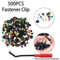 500Pc Mixed Auto Car Fastener Clip Bumper Fender Trim Plastic Rivet Door Panel