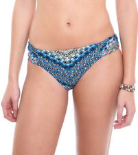 NEW Lucky Brand Nomad Chevron Reversible Hipster Bikini Bottoms Indigo L Large