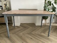 Rustic Farmhouse Pine Painted Kitchen Dining Table