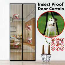 "39""x82"" Magnetic Door Mesh Black Fly Screen Magic Magna Mosquito Bug Curtain US"