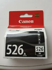 Genuine Canon 526 black BK CLI-526BK ink cartridge.