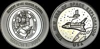 """NASA KENNEDY SPACE CENTER LIMITED ED. COIN """"2002 THE NEW ERA SPACE EXPLORATION"""""""