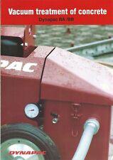 Equipment Brochure - Dynapac - Ba Bb - Concrete Vacuum Treatment - c1990 (E5732)