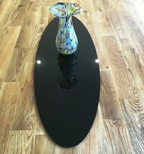 Black Acrylic Oval Table Runner / Protector in 3mm & 5mm thick options
