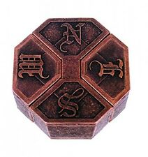 NEWS Hanayama Cast Metal Brain Teaser Puzzle (Level 6), New, Free Shipping