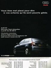 Publicité advertising 2003 Audi A3 Pack Attraction