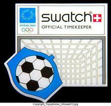 OLYMPIC PINS 2004 ATHENS GREECE SWATCH SPONSOR SOCCER