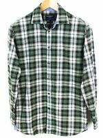 Hackett London Uomo Camicia 100's 2 Strati Cotone Quadri Top Stile Casual