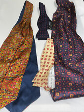 Vintage Silk Ascots And Bowties