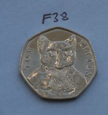 Tom Kitten - Beatrix Potter 50p Fifty Pence coin 2017 - Circulated