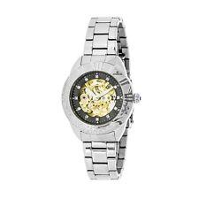 Empress Godiva Automatic MOP Black Dial Silver Bracelet Women's Watch EM1102