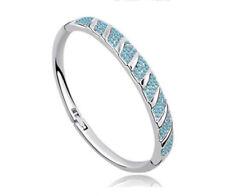 18K White Gold Plated made with Swarovski Crystal Elements Bracelet Bangle