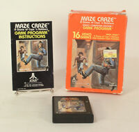 Vintage Boxed Atari 2600 game Maze Craze Tested & Working