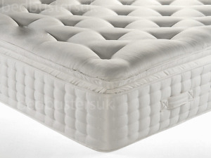 3000 MEMORY PILLOW TOP MATTRESS, 3FT 4FT 4FT6 DOUBLE 5FT KING SIZE SUPER KING