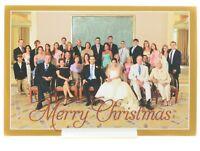 Barbara & George Bush Signed Holiday Card w Family Portrait/Photo 2010 Christmas