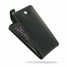 PDair Leather Flip Top Wallet Case Cover for Sony Xperia X - Black