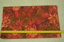 """By-the-Half-Yard, 45"""" Wide, Floral on Brown Lt-Weight Cotton Lawn/Voile, M5591"""