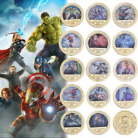 14pcs Marvel Avengers Infinity War Gold Commemorative Coin Gifts For Marvel Fans