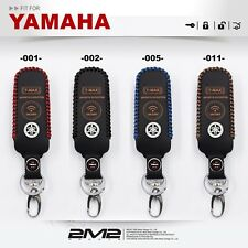 Leather key fob holder case chain cover FIT For 2017 YAMAHA T-MAX TMAX