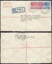 Malaysia 1955 -  Registered airmail cover to Great Britain.....(DE) MV-3523