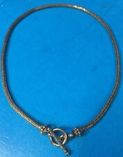 "Nice SUARTI BA Sterling Silver 18"" Heavy (30.4g) Wheat Toggle Necklace Chain -B7"