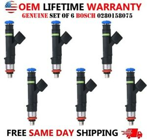OEM x6 Bosch Fuel Injectors For Ford Fusion Lincoln Zephyr Mercury Milan 3.0L V6