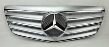 Mercedes E Class W211 07-09 5 Fin Front Hood Sport Silver Chrome Grill Grille