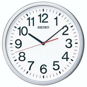 SEIKO Wall Clock Analog Office Type Silver Metallic KX229S Fast Shipping