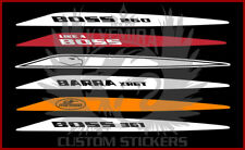 Pair BA BF FPV XR8 GTP Bonnet Boss Barra Turbo 240 260 290 CUSTOM text Stickers