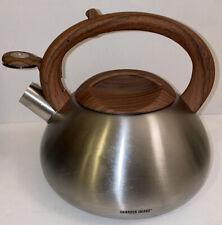 Sharper Image 3.1 Quart Stainless Steel Tea Kettle W/Dark Wood Soft Spray Handle