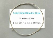 1 mm x 500 mm Length Braided Stainless Hose for Scale Model Detailing.Tamiya etc